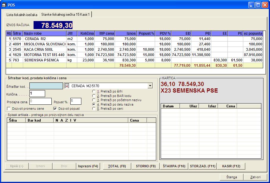Prozor prodaje